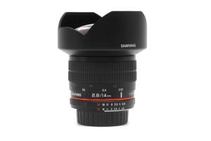 14mm F.2,8 Samyang/Nikon ED AS IF UMC  con SCATOLA