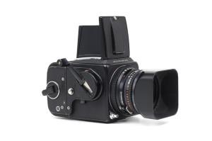 Hasselblad 500C/M nera con 80mm C T* e A12