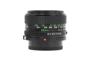 28mm F.2,8 Canon FD (Manual Focus)