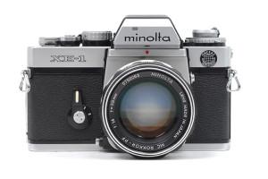 Minolta XE-1 con Rokkor 58/1,4