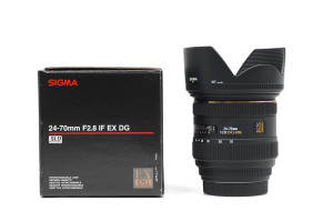 24-70mm F.2,8 Sigma DG HSM EX per Canon EOS con SCATOLA